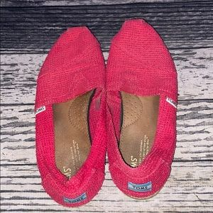 Toms Hot Pink Shoes Size 10